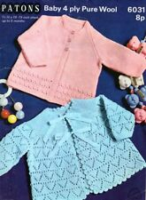 Baby Knitting Pattern 2 Gorgeous Lacy Style Copy  Matinee Jackets in 4 Ply