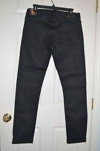 Jean Shop SELVEDGE Jim Skinny fit Stretch-Denim Jeans Black NWT $195