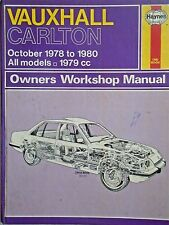 Vauxhall Carlton (Oct. 1978 to 1980) 1979cc Haynes Workshop Manual No. 480