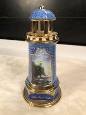 "Thomas Kinkade ""Split Rock Light� Porcelain light-up Collectible Lighthouse."