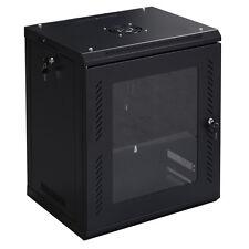 Goplus 12U Wall Mount Network Server Data Cabinet Enclosure Rack Glass Door Lock