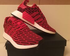 c213c1ec97dd6 Genuine Adidas NMD R2 Red Black Primeknit UK 10 Us 10.5 Eu 44 BY2098 BNIB