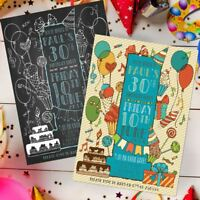 Beautiful Invitations Personalised Birthday Party Invites 18th 21st 30th 40th !