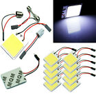 48 SMD COB LED T10 4W 12V Light Car Interior Panel Lights Dome Lamp Bulb+Parts