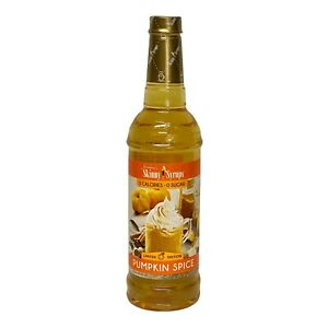 Jordan's Skinny Mixes Sugar Free Coffee Flavoring Syrup, Pumpkin Spice 25.4 oz
