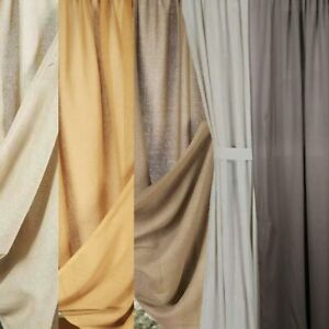 Heirloom Unlined Cotton Single Drapery Panels by Raghu - Multiple Colors and