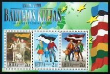 LITHUANIA MNH 1999 10th Anniversary of the Baltic Chain Minisheet