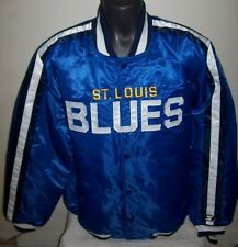 ST. LOUIS BLUES NHL STARTER Satin Jacket Traditional BLUE L XL 2X