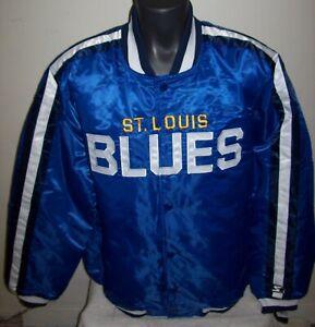 ST. LOUIS BLUES NHL STARTER Satin Jacket Traditional BLUE S M L XL 2X