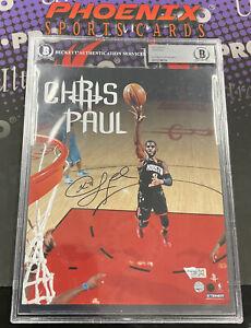 CHRIS PAUL Signed 8x10 Autograph Photo BECKETT Slabbed Authentic Auto