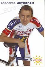 CYCLISME carte  cycliste LEORNADO BERTAGNOLLI  équipe COFIDIS 2005