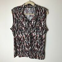 Anne Klein Women's Sleeveless Top Size 1X V-Neck Casual Work Career Business