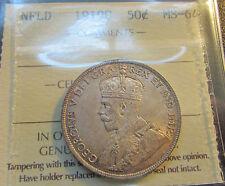 Newfoundland 1919 C  50 Cents NEAR GEM ICCS MS 64