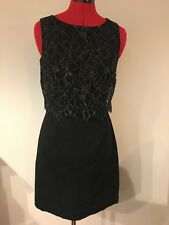 706737883e MONSOON FUSION dress with black, gold lace overlay top. size 10 wedding  Party