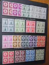 EBS Germany BLOCKS 4 Official & NSDAP Stamps 18 different MNH CV €249 ($380)++