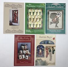 Quilt Patterns Lot of 5 Quilting Sew Assorted Brands Seasonal Christmas Santa