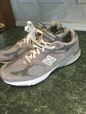 New Balance 993 Made In USA Miu Grey Sneaker Shoes Size US 13