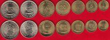 Peru set of 7 coins: 1 centimo - 5 intis 1985-1988 UNC