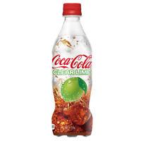 Coca Cola Clear Lime 500mL 17oz Transparent Coke Bottle Japan Soda Drink SEALED