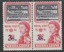 Sierra Leone 3926 - 1963 POSTAL  COMMEMORATION 3s on 3d VARIETY unmounted mint