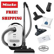 Miele Classic C1 Olympus Canister Vacuum Cleaner Lotus White - Corded