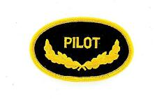 Toppe Patch toppa ricamate termoadesiva moto biker aviazione marina PILOT pilota