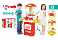 Xmas Gift Electronic Children Kids Pretend Play Cooking Kitchen Set Cooker Toy
