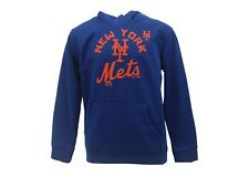 New York Mets Official MLB Majestic Kids Youth Size Athletic Hooded Sweatshirt