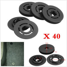 Universal 40Pcs Car Carpet Clips Floor Mat Mounting Fastener Retainer Black ABS