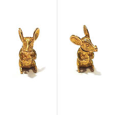 SOLID 9K YELLOW GOLD 3-D MOUSE WITH MOVABLE HEAD & TAIL CHARM