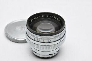 [EXC Zeiss Opton Sonnar 50mm F/1.5 Contax RF Mount Lens From Japan #1495