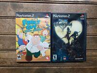 Lot of 2 PS2 Games: Kingdom Hearts & Family Guy w/manual (Sony PlayStation 2)