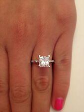 2.50 Carat Princess Cut F VS1 Diamond Solitaire Engagement Ring 14K White Gold