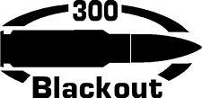 300 BLACKOUT gun Rifle Ammunition Bullet exterior oval decal sticker car wall