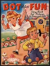 """UNCOLORED """"Dot Picture Fun"""" #3446 Merrill 1943 LITTLE BLACK SAMBO (4654)"""