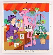 """1970's circa The Pink Panther 22"""" x 23"""" Original Artwork"""