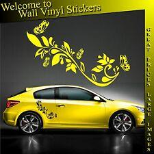 ADESIVI Auto Grafica Farfalla Fiore Vinile Decalcomanie Camper Van CUSTOM BIKE x2