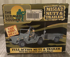THE ULTIMATE SOLDIER M151A2 Mutt & Trailer w M60 & Mount + BOX 21st Century Toys