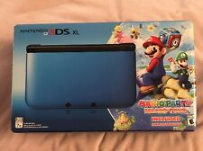 Nintendo 3DS XL Blue/Black Limited Edition Bundle Mario Party: Island Tour *NEW*