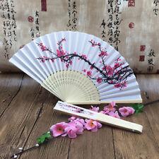 Lace Silk Folding Hand Held Flower Fan Chinese/Spanish Dance Wedding Gift WL