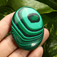 EPIC STONE- Palm Tumbled Malachite Quartz Crystal- Massage Gemstone- Soap Shape