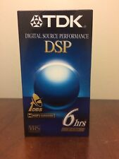 TDK 6 HOURS DSP VHS T-120 VIDEO CASSETTE BLANK TAPES MEDIA FACTORY SEALED HIFI