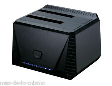 Docking Station USB 3.0 Tooq TQDS-902B Doble Bahia Discos HDD/SDD SATA 2.5/3.5""