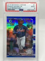 2019 Bowman Chrome Blue Refractor #1 Ronald Acuna Jr. Braves /150 PSA 9 2nd Year