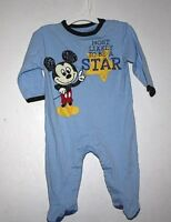 Disney Mickey Mouse Outfit Boy size 3-6 months Infant One Piece Blue - V VX