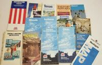Lot of 14 Vtg Road Maps 80s Texas OH Kansas Ind Ky Chicago Nevada illinois