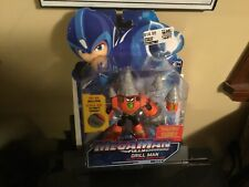 Mega Man DRILL MAN Action Figure Fully Charged Megaman Deluxe MIB