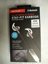 Sound Logic Bluetooth Stereo Stay-Fit Earbuds, Black, FAST FREE SHIPPING!!