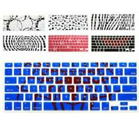 Soft Pattern Keyboard Silicone Cover Case Protect Skin For MacBook Pro 13-15''
