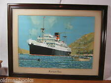 PRINT FURNESS LINE HMHS Newfoundland OCEAN LINER SHIP SUNK GERMAN WWII 2